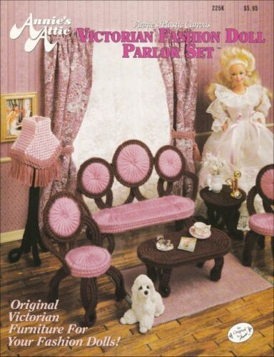 Victorian FD Parlor Set Barbie Floor Lamp Settee Coffee Table Chairs End Table