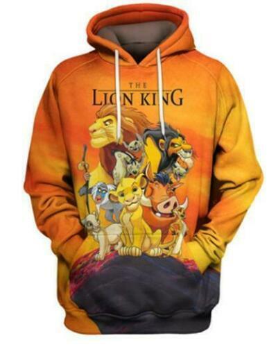 Movie The Lion King 3D print Hoodie Men Women Casual Sweatshirt Pullovers Tops