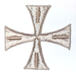 Vintage-Cruz-3-034-Bordado-para-Coser-Beige-B-Maltes-Emblema-Parche-2PC
