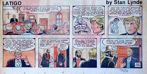 Latigo-by-Stan-Lynde-Western-comic-scarce-color-Sunday-page-Sept-6-1981