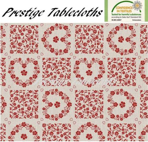 Code C88-1 ALL SIZES Modern Hearts Flowers PVC Vinyl Wipe Clean Tablecloth