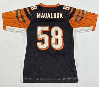 *Reebok NFL Youth Cincinnati Bengals Rey Maualuga #58 Jersey L (14-16) EUC | eBay