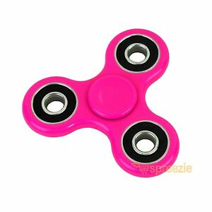 Pink Hand Spinner Fidget Toy Anxiety Stress Relief Focus EDC Tri Spinner ADHD