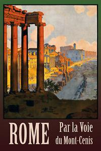 Rome-Italie-Panneau-Metallique-Plaque-Voute-Metal-Etain-Signer-20-X-30-cm-CC0382