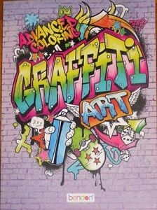 GRAFFITI ART *Advanced Adult Coloring Book* (30 Single Sided Pages ...