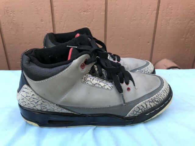 size 40 7083c cd101 Nike Air Jordan 3 III Retro Stealth Grey Red Black Youth SZ 6.5Y 398614-