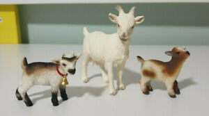 Schleich-GOAT-AND-CALF-Animal-Figures-X3