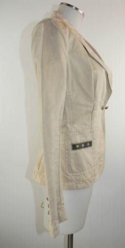 Molto S 2 Drykorn Blazer Giacca buono indossato Lino beige cotone 36 EOq7ww6z