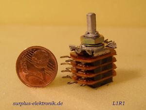 2-x-UHER-023072-Drehschalter-Stufenschalter-Rotary-Switch