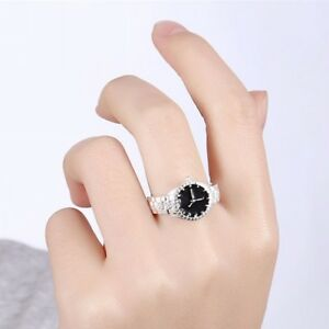 Creative-Women-Pocket-Finger-Ring-Round-Case-Watch-Party-Jewelry-Gift-Calm-Hot