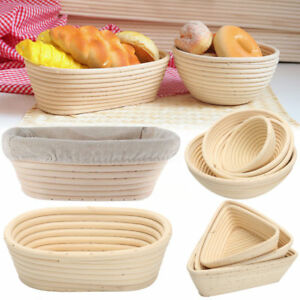 Bread Proofing Baskets Rattan Wicker Dough Banneton Baguette Proving Brotform