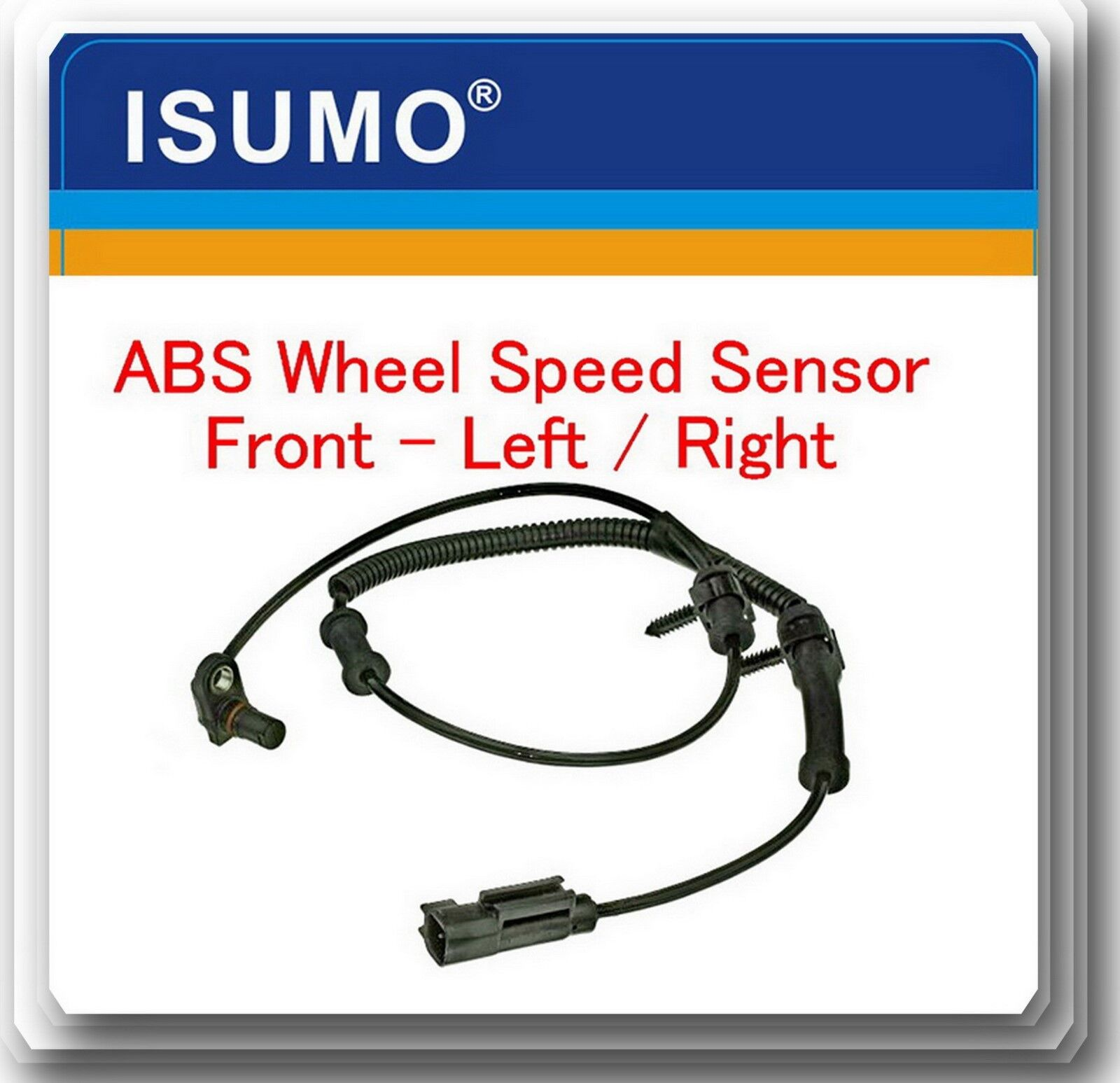 Front Left or Right ABS WHEEL SPEED SENSOR Fits 2002-2005 Ram 1500 Replace ALS104 5S7005 2ABS0177 AB1733 V33720019 970220 5083204AA 5083204AB