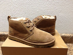 824a960d94c Details about UGG MEN NEUMEL CHESTNUT FULLY LINE SHEARLING SUEDE SHOE US 11  / EU 44.5 / UK 10