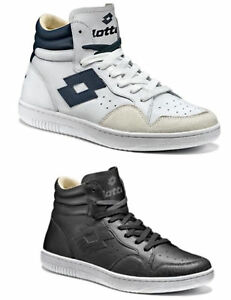 Image is loading Shoes-Lotto-Icon-white-leather-S9985-sneakers-man- 4d671994bef