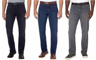 * FAST SHIPPING * Select Size BLACK Urban Star Men/'s Relaxed Fit Jeans