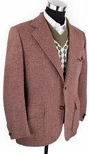Vintage Brown Norfolk Ammo Pockets Sport Coat Jacket Blazer Action Back 42R