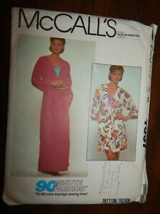 Cover-up-Robe-McCalls-7537-Small-S-Cut-Pattern-Sewing-Women-039-s-90-fashion-Misses