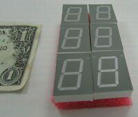6 Liteon Red 7-element + Decimal Led Number Segments 27mm X 20mm Lts-3401ve