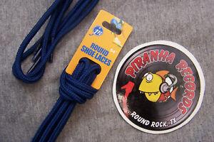Dark-Blue-Thin-Round-54-034-x-1-8-034-3-8-034-JN-Shoelaces-Shoe-Strings-Piranha-Records