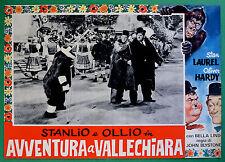 T34 FOTOBUSTA AVVENTURA A VALLECHIARA STAN LAUREL OLIVER HARDY STANLIO OLLIO 1