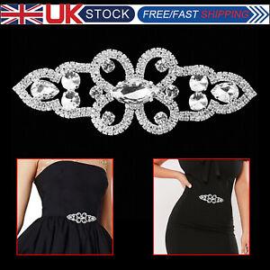 Silver-Diamante-motif-with-Crystal-Rhinestone-Sew-On-Applique-Bridal-for-Wedding