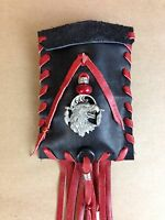 Handmade Native American Indian Style Leather Fringe Mojo Pouches Stone Dice Bag