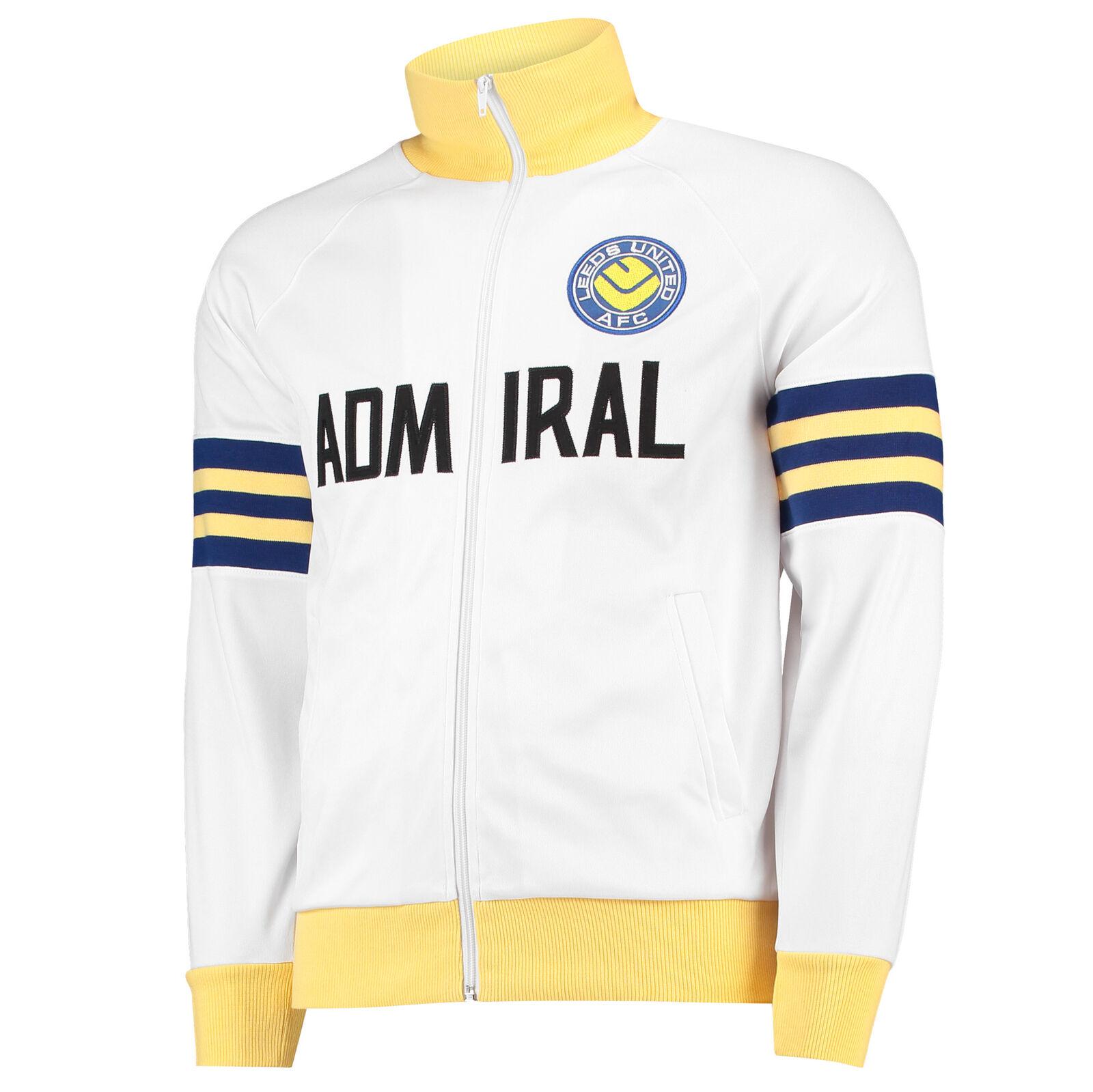 Admiral Herren Fussball Leeds United United United 1978 Track Jacke Trainingsjacke Weiss b9537b