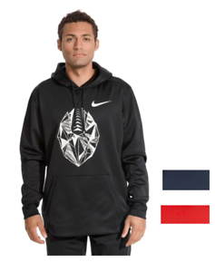 00d58f014fa3 NWT 55 Nike Therma-Fit Football Men s Hoodie Black Blue Red All Size ...