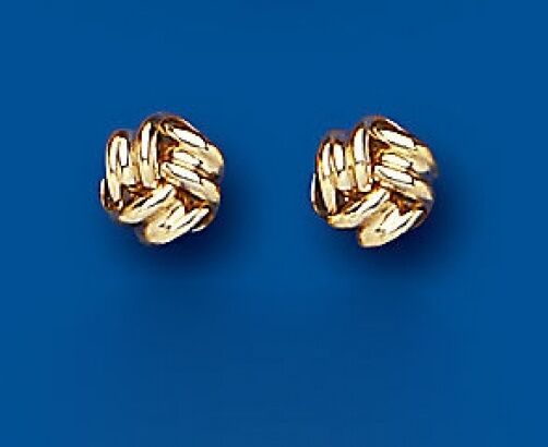 Yellow gold Knot Earrings Knot Stud Earrings Knot Studs 5mm