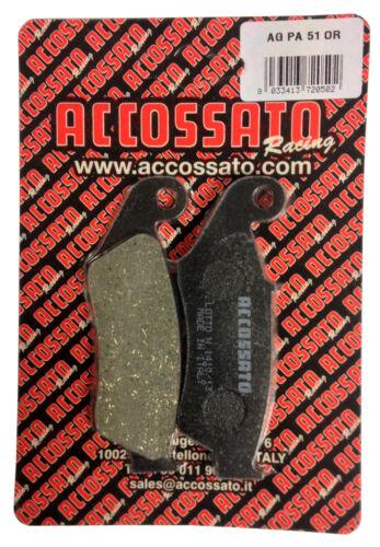 Pastiglie Accossato Organica Anteriori Honda XR400 XR 400 1996 AGPA51OR