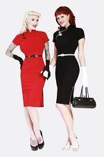 NWT Bettie Page China Doll Black Dress 4X Rockabilly Pinup Bombshell