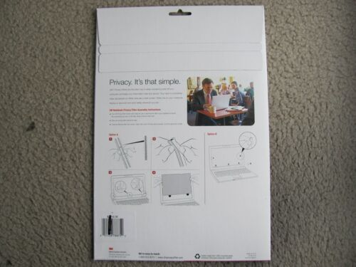 """New 3M RPF14.1W Privacy Filter 14.1/"""" Widescreen for Notebook Computers Black"""