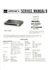 Service Manual-anleitung Für Sharp St-5100 Krankheiten Zu Verhindern Und Zu Heilen Tv, Video & Audio