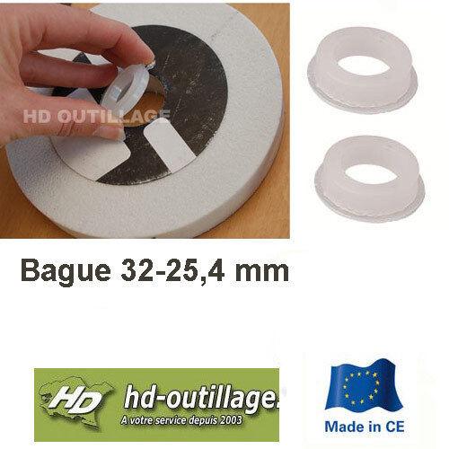 2 bagues de réduction 32-25,4 mm pour meule BA224