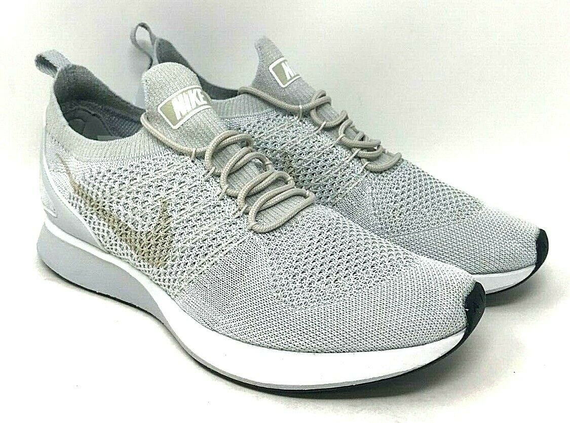 Nike Air Zoom Mariah Flyknit Racer SIZE 9 Pure Platinum Dark Grey