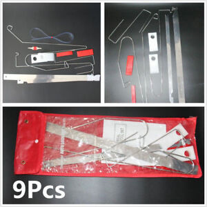 Universal 9PCS EMERGENCY LOCKOUT TOOL KIT Auto Entry Car
