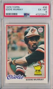 1978 Topps Baseball Eddie Murray Rookie Card #36 Orioles PSA 6