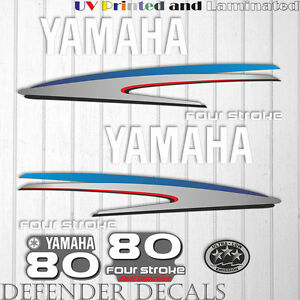Yamaha 85 HP Four Stroke outboard engine decal sticker kit reproduction Printed