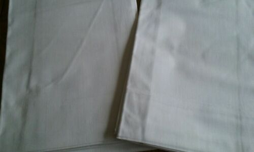 2 NOS Unused Vintage White Twin Flat Sheets ~ Fine Cotton Muslin ~ Nice!