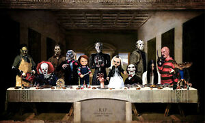 Framed-Print-The-Last-Supper-of-Horror-Alfred-Hitchcock-Gothic-Picture-Art