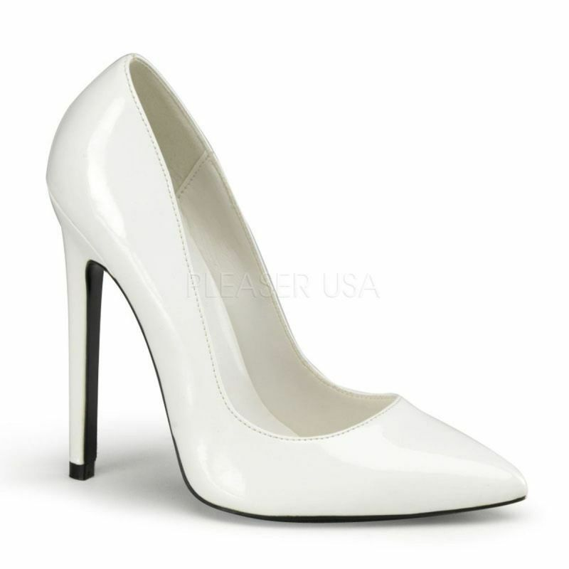 Pleaser Pumps SEXY-20 Weiss Lack