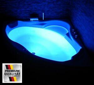 Luxus-Badewanne-mit-Kopfstuetzen-Acryl-Eckbadewanne-LED-Wanne-fuer-Badezimmer-weiss