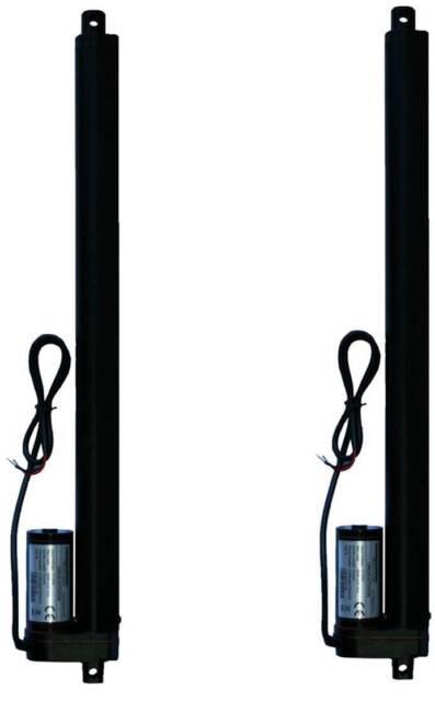 """2 pcs Two Piece 20"""" 20 Inch Linear Actuator 225 Lb Pound Lift 12V 12 Volt DC"""