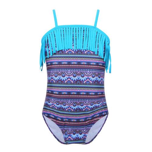 Toddler Kids Girls Bikini Swimwear Boho Tassel Swimsuit Bathing Suit Beachwear