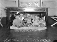 """Photo 1941-3 WW2 Australia """"Air Raid Drill - Nurse & Children"""""""