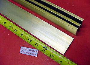 "1//4/"" x 4/"" C360 BRASS FLAT BAR 6/"" long Solid .250/"" Mill Stock H02"