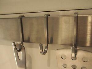 8x Ikea Rimforsa Haken Edelstahl Für Leiste Küchenleiste Stange