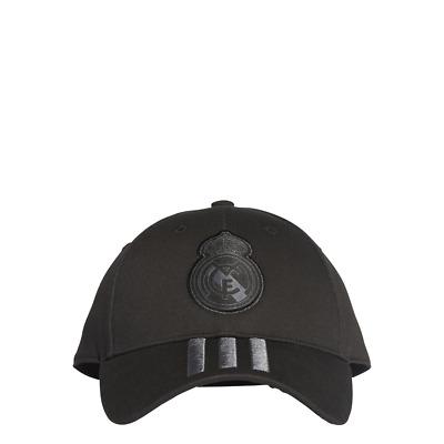 0bf7f8ecb Adidas Football Hat Real Madrid Stripes Cap Black Fashion DQ1496 New ...