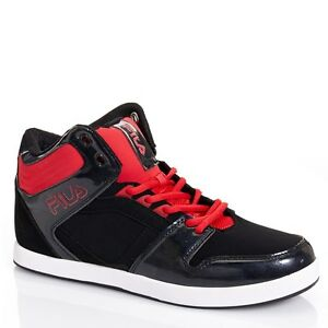 f3340ebb Details about New Fila Payroll Mens Black/Red High Top Sneakers NIB
