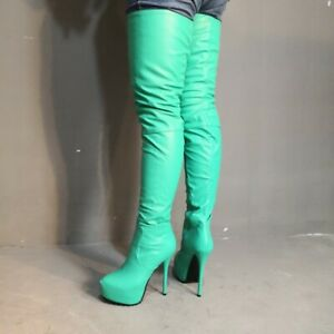 Sexy-Women-Over-the-Knee-Thigh-High-Boots-Platform-Stiletto-Heels-Shoes-Clubwear